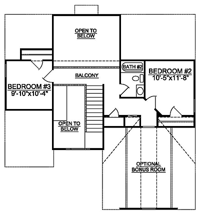 Small Traditional 15-01 Second Floor Plan