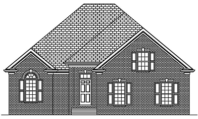One Story Traditional Style Home Plan 19-03