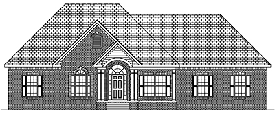 One Story Traditional Home Plan 25-01