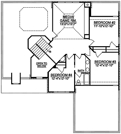 Traditional Home Plan 27-01 Second Floor Plan