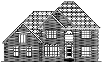 Two Story Traditional Home Plan 28-01