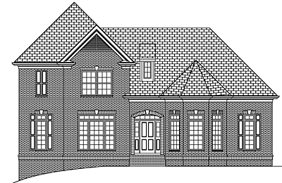 Two Story Traditional Style Home Plan 30-02