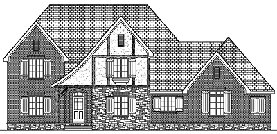 Tudor Style Home Plan 35-01 Front Elevation