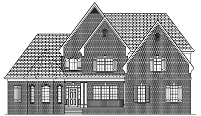 Two Story French Country Home Plan 35-02A