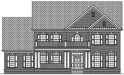 Narrow Lot Colonial Home Plan 35-04