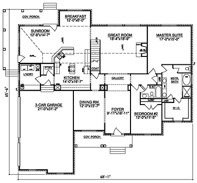 Small Traditional 26-01 First Floor Plan