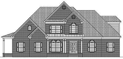 Two Story Traditional Style Home Plan 40-01