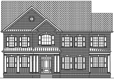 Colonial Style Two Story House Plan 40-04A