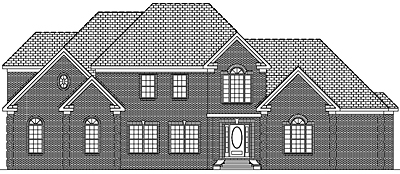 Two Story Traditional Home Plan 41-02