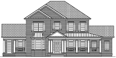 Colonial House Plan 42-01 Front