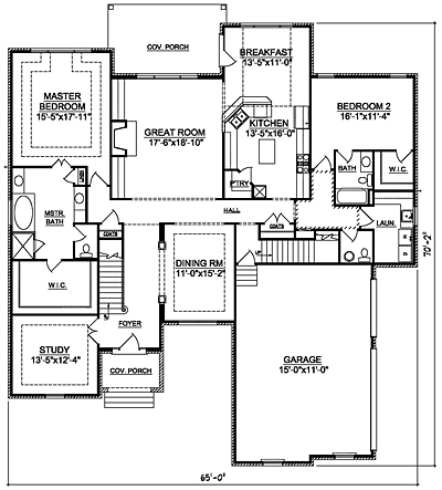 Traditional 44-01 First Floor Plan