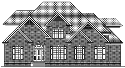 Two Story Traditional House Plan 44-02
