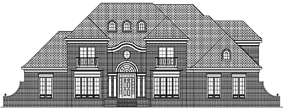 Two Story Traditional Style House Plan 46-01