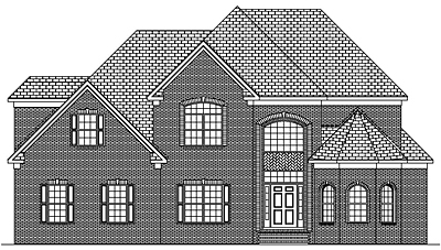 Two Story Traditional House Plan 48-01A