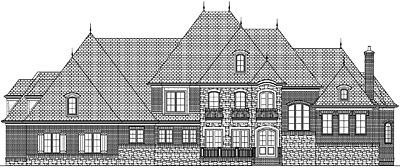 Two Story French Country House Plan 67-01