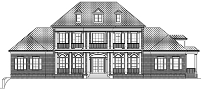 Two Story Southern Home Plan 86-01A