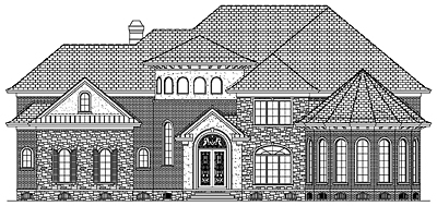 Luxury House Plan 94-01 Front
